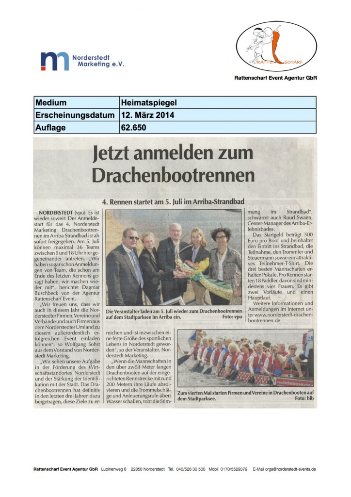 Heimatspiegel 12. März 2014