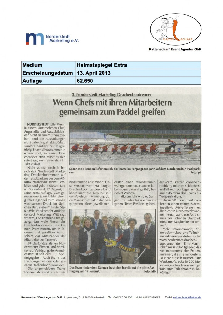 Heimatspiegel 13. April 2013