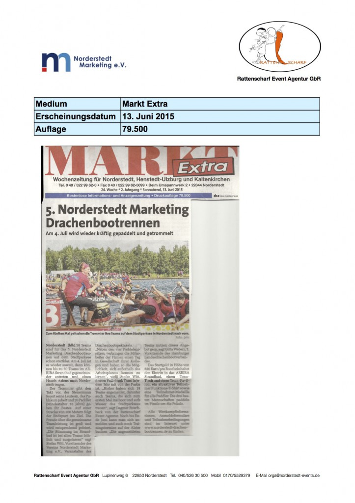 Markt Extra 13. Juni 2015