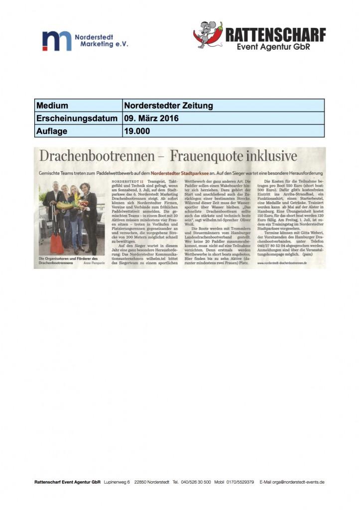 Norderstedter Zeitung 09. März 2016