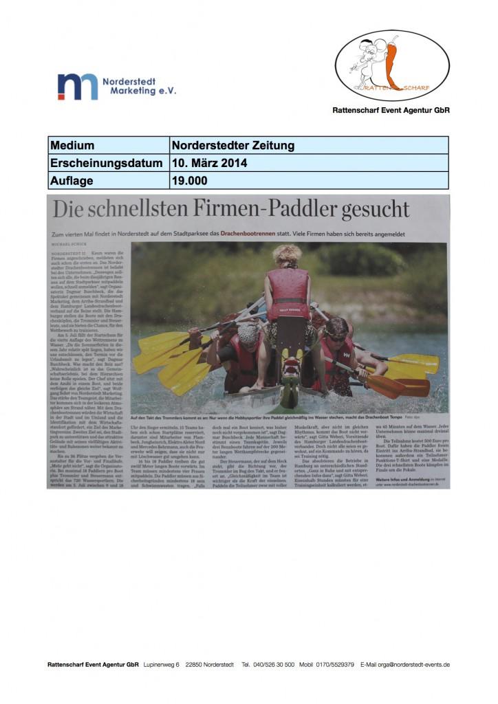 Norderstedter Zeitung 10. März 2014