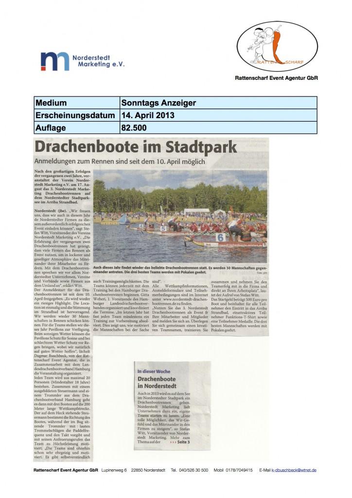 Sonntags Anzeiger 14. April 2013