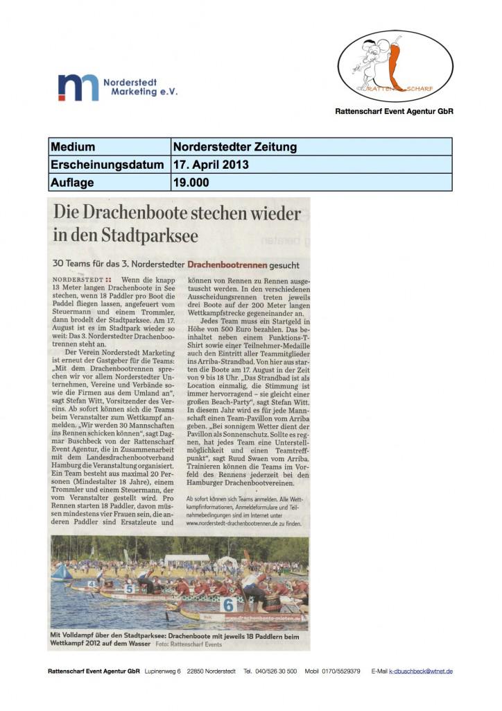 Norderstedter Zeitung 17.4.2013
