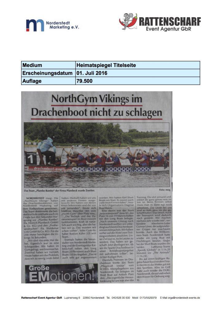Heimatspiegel 06. Juli 2016 Titelseite
