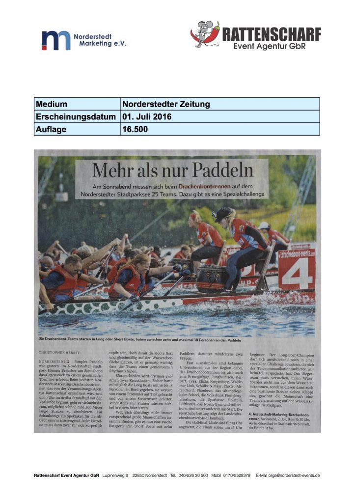 Norderstedter Zeitung 01. Juli 2016
