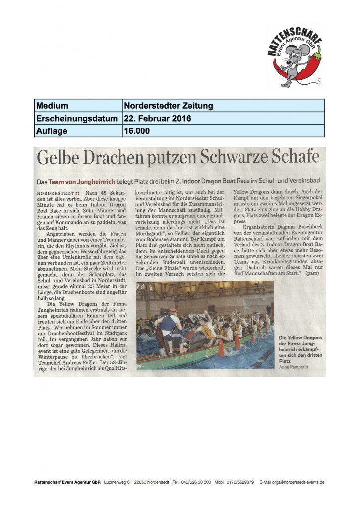 Norderstedter Zeitung 22. Feb 2016