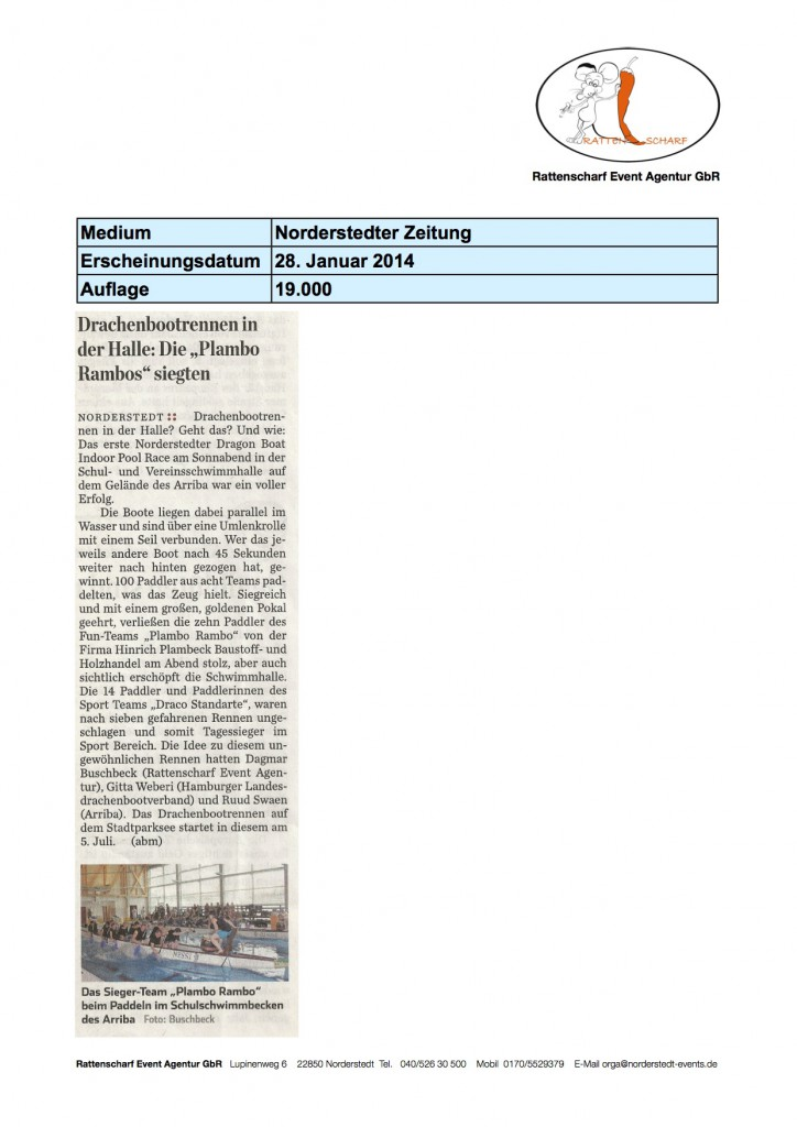 Norderstedter Zeitung 28. Januar 2014