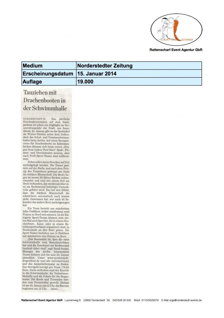 Norderstedter zeitung 15. Januar 2014