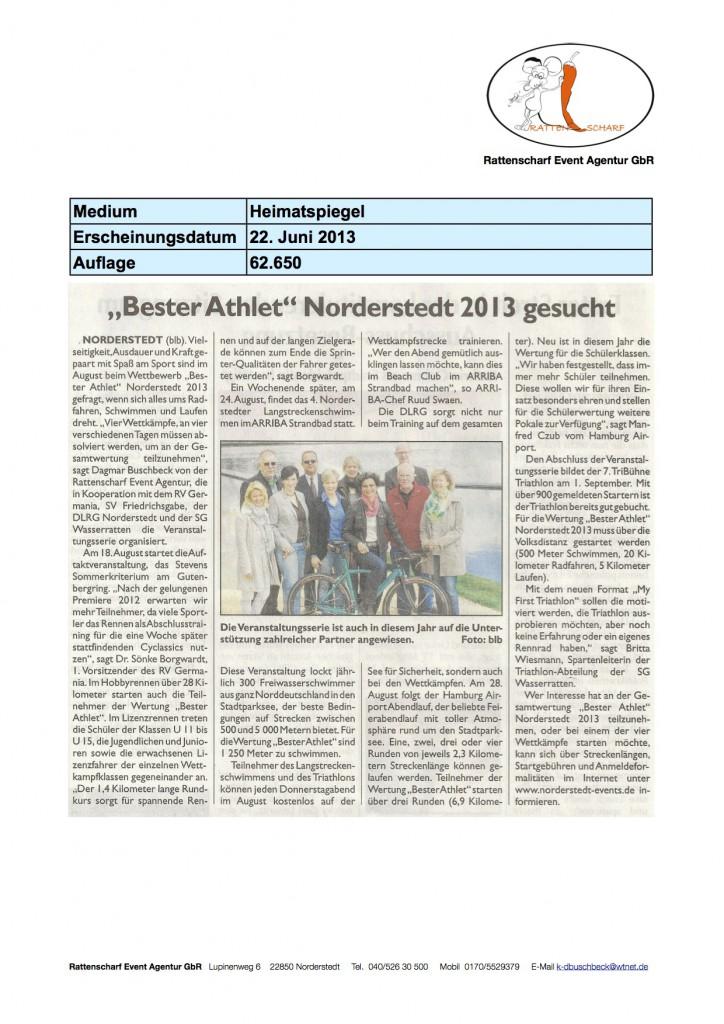 Heimatspiegel 22. Juni 2013