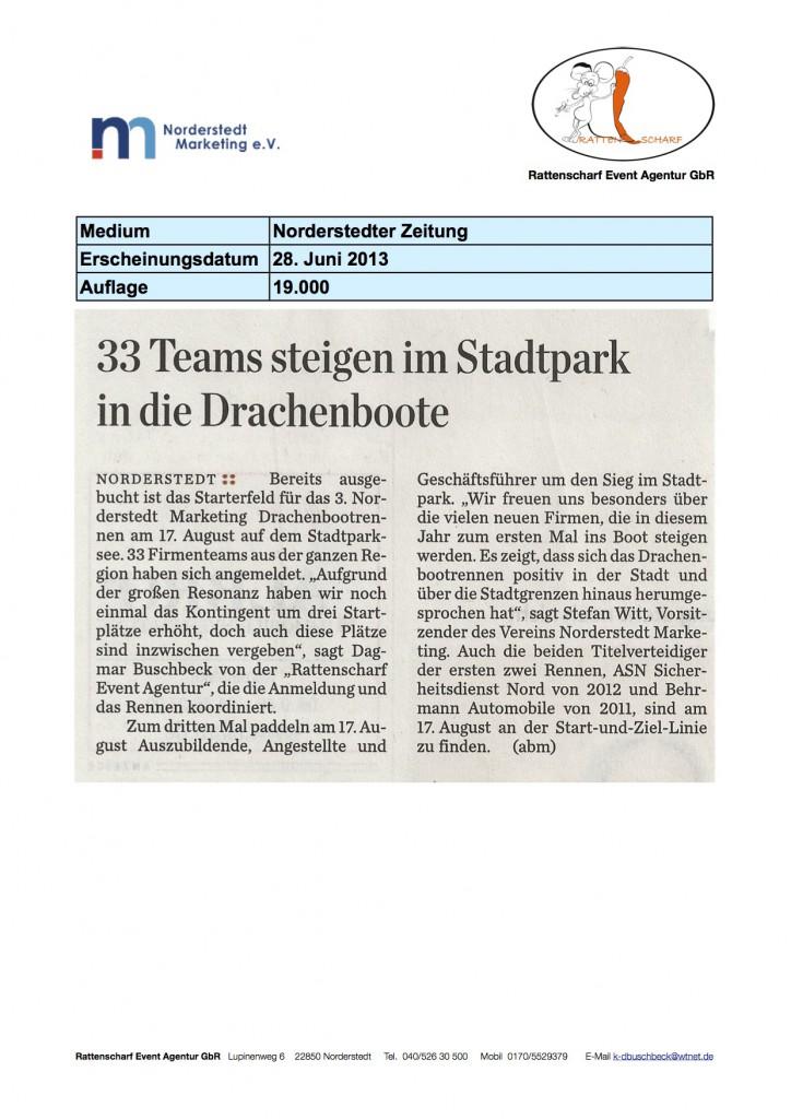 Norderstedter Zeitung 28. Juni 2013