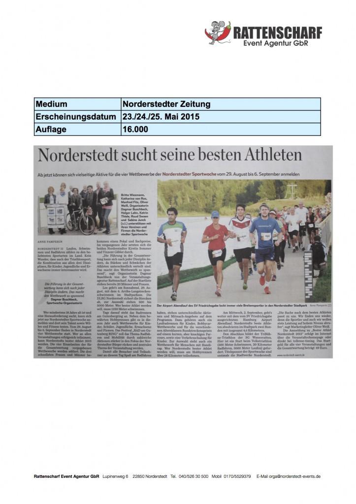 Norderstedter Zeitung 23.24.25 Mai 2015